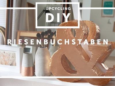 DIY.Riesen XXL 3D Buchstaben aus Pappe selber machen | how-to craft big letters