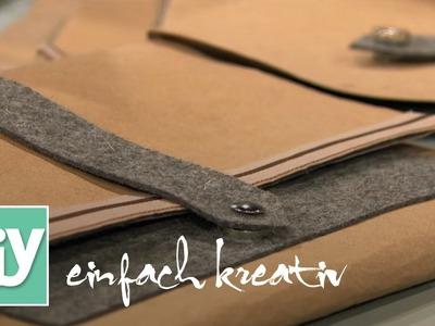 Mappe aus veganem Leder | DIY einfach kreativ