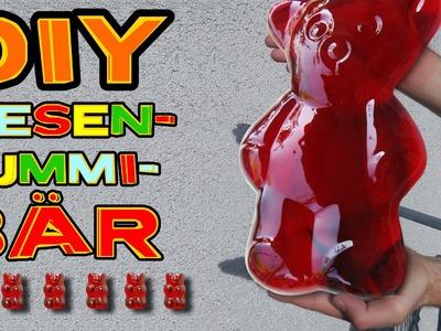 Der GRÖßTE GUMMIBÄR !!! So macht man ein RIESEN GUMMIBÄRCHEN! DIY biggest gummy bear