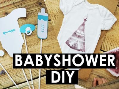 DIY Babyshower Deko: Babybody Stempel & Foto Accessoires selber basteln