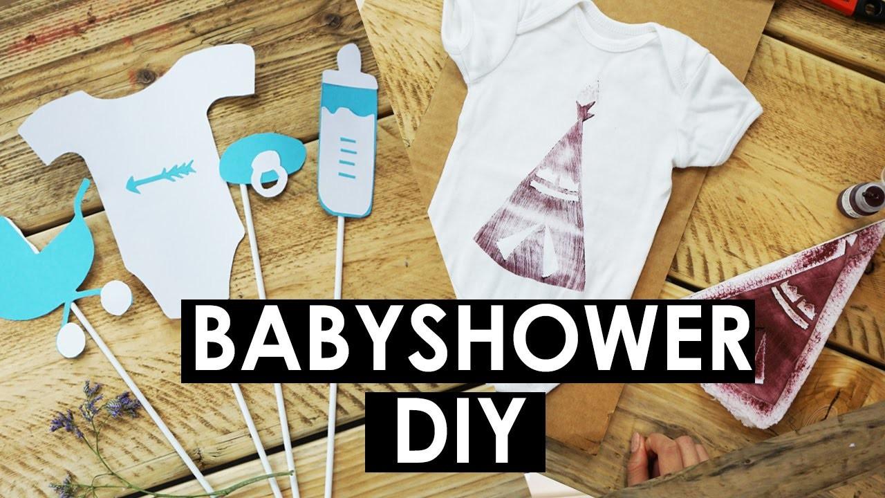 Diy Babyshower Deko Babybody Stempel Foto Accessoires Selber Basteln