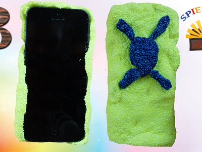 DIY BUNTE HANDY HÜLLE AUS FOAM CLAY - Iphone Case selber machen deutsch Experiment