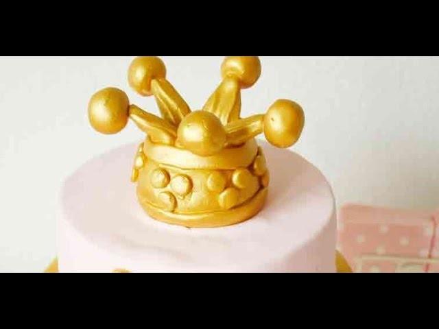 DIY   Krone aus Fondant   Fondantkrone   Prinzessintorte   Prinzessinkrone   Crown