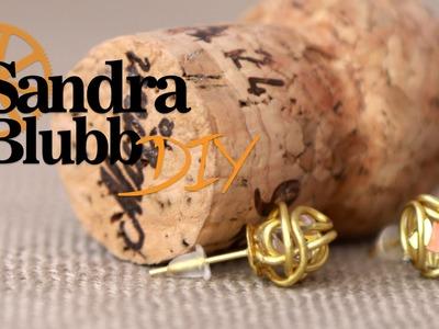 [DIY] Schnelle goldene Ohrringe :3 für Meike #SandraBlubbDIY