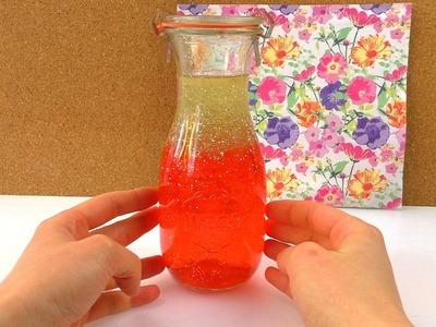 DIY Anti Stress Flasche mit Lava Effekt | Orbeez Perlen & Glitzer | Coole Schreibtisch & Geschenk