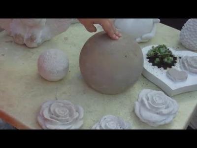 DIY - Beton giessen - Beton Kugel Gartenkugel in einem Ball giessen