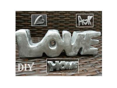 DIY: Deko Schriftzug aus Schaumstoff. deco letters made out of foam material