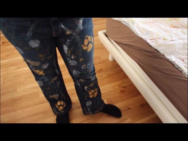 DIY: Jeans anmalen (leicht übertrieben)