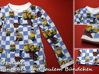 DIY Komplettanleitung: T-Shirt nähen mit Bündchen und Fake-Bündchen (faules Bündchen) | kreativBUNT