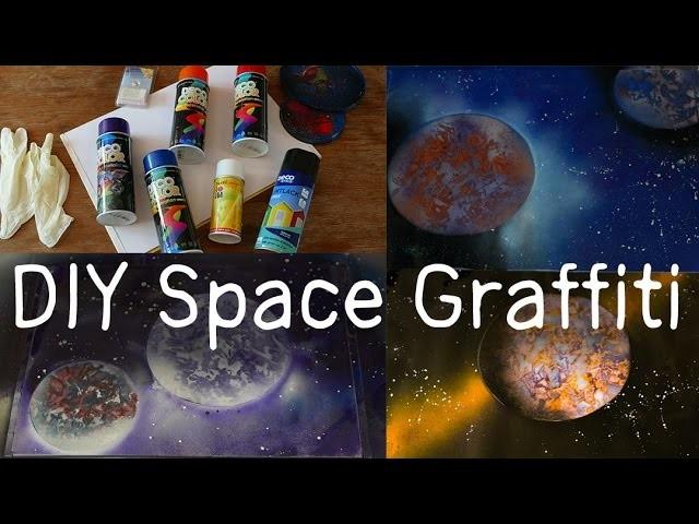 DIY SPACE GRAFFITI | Tutorial & 1000 ABONNENTEN VERLOSUNG (beendet)!
