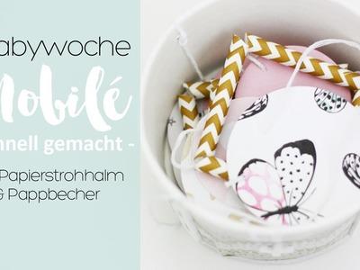 DIY Mobilé mit Papierstrohhalm   Babywoche   danipeuss.de