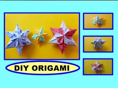 DIY ORIGAMI PAPER 3D STAR, GIFT IDEAS, STERN, GESCHENKE FALTEN MIT PAPIER