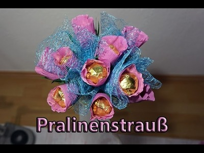 Geschenkidee Blumenstrauß mit Pralinen DIY