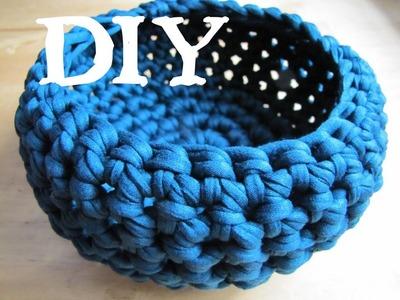 Utensilo. Körbchen häkeln DIY mit Textilgarn (auch für Anfänger!)