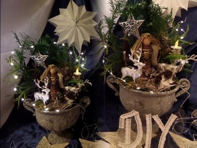 DIY: SCHNELLE , Winter Weihnachts DEKO SELBER MACHEN; Upsycling- by kekaplauderei