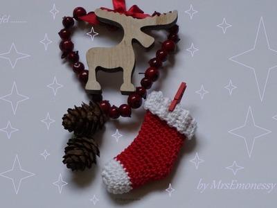 Nikolaussocken Weihnachtssöckchen Häkeln