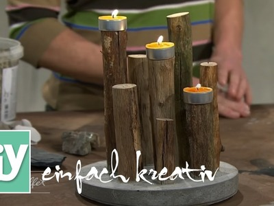 Teelichthalter aus Beton | DiY einfach kreativ