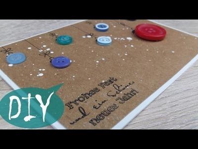 Weihnachtskarte mit Knöpfen ~ DIY. Tutorial