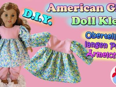DIY | Puppenkleid Oberteil mit langen Puffärmelchen selber nähen • Sami Doll Tutorials