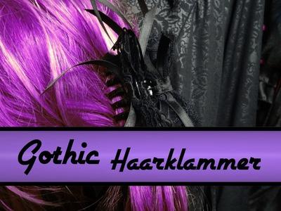 DIY - Do it yourself for Goths - Tutorial - Haarklammer pimpen