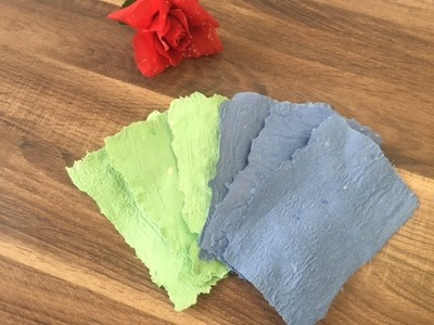 DIY Papier herstellen. Papier schöpfen, Basteln mit und für Kinder, upcycling