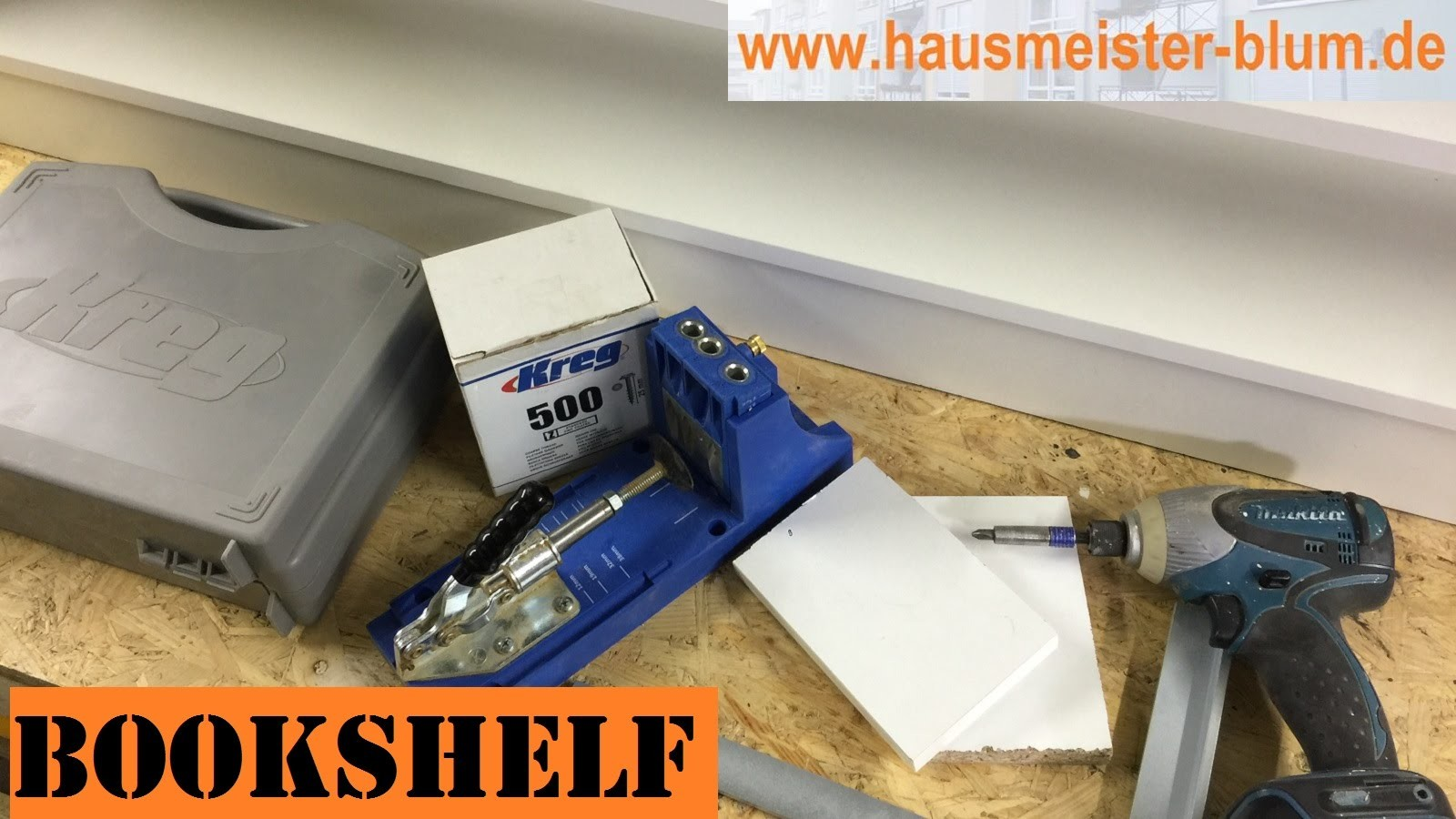 DIY: Regal [ Shelf build with Kreg Jig Pocket Hole Joinery System ]