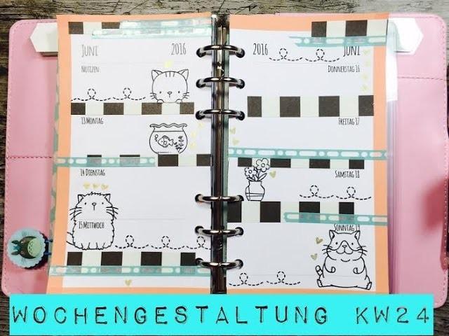 DIY---Wochendeko---Planer---KW24  Filofax [tutorial  Vlog]^^