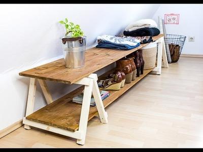 Regal selber bauen * Regal mit Klappbock bauen * How to:  Holzbock bauen * DIY Regal