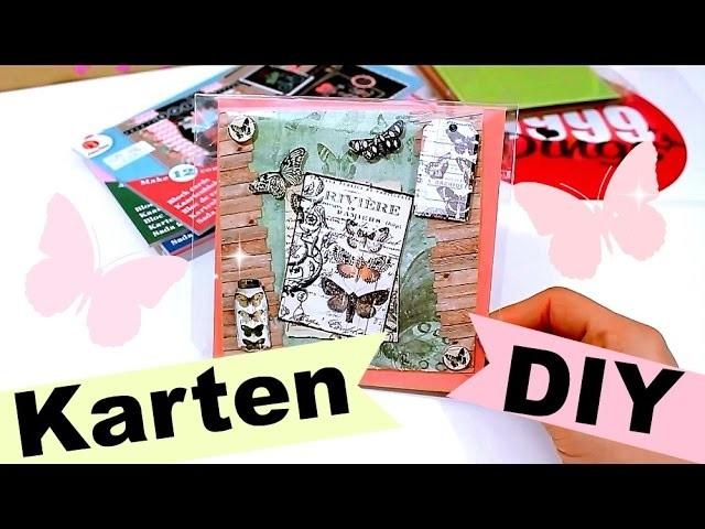 Basteln | Karten selber machen Anleitung | 9999 Dinge - DIY, Basteln & Trends