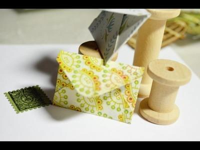 Tutorial,Mini Briefumschlag DIY als Embellishment[basteln mit Papier]