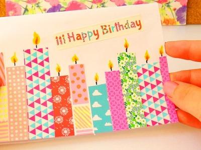 Washitape Geburtstagskarte | DIY Karte mit Kerzen | Super einfach & schön | Birthday Card Idea
