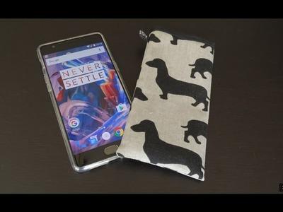 DaIsY´s DIY - einfache Handytasche für das OnePlus 3 und andere Handys nähen