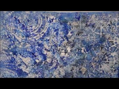 DIY: Acrylbild Blau - Mit Acrylfarbe und Strukturpaste malen
