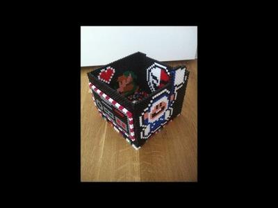DIY: Bügelperlen Box. Schmuckbox aus Hama Perlen