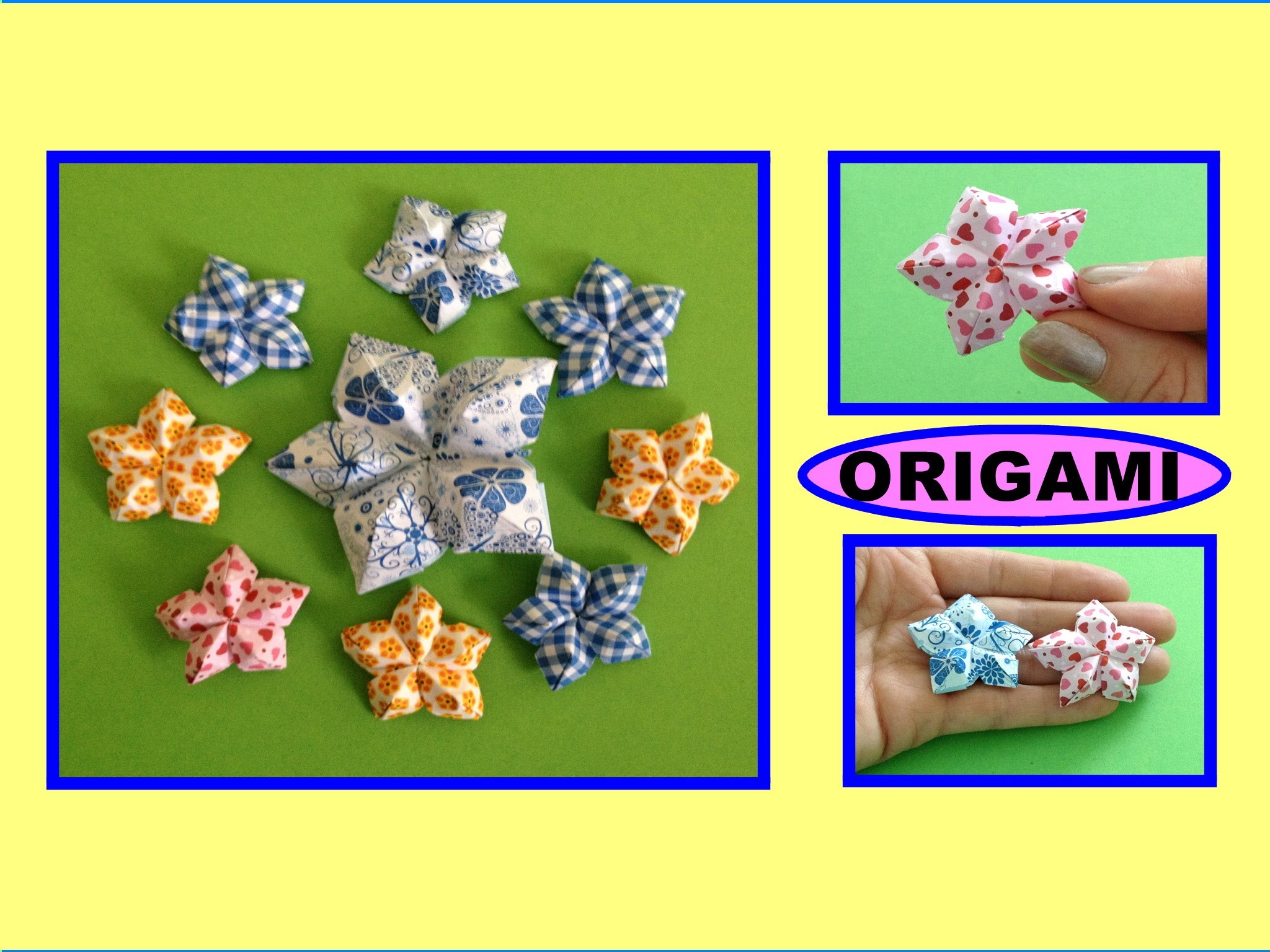 origami diy origami flower easy for beginners origami. Black Bedroom Furniture Sets. Home Design Ideas