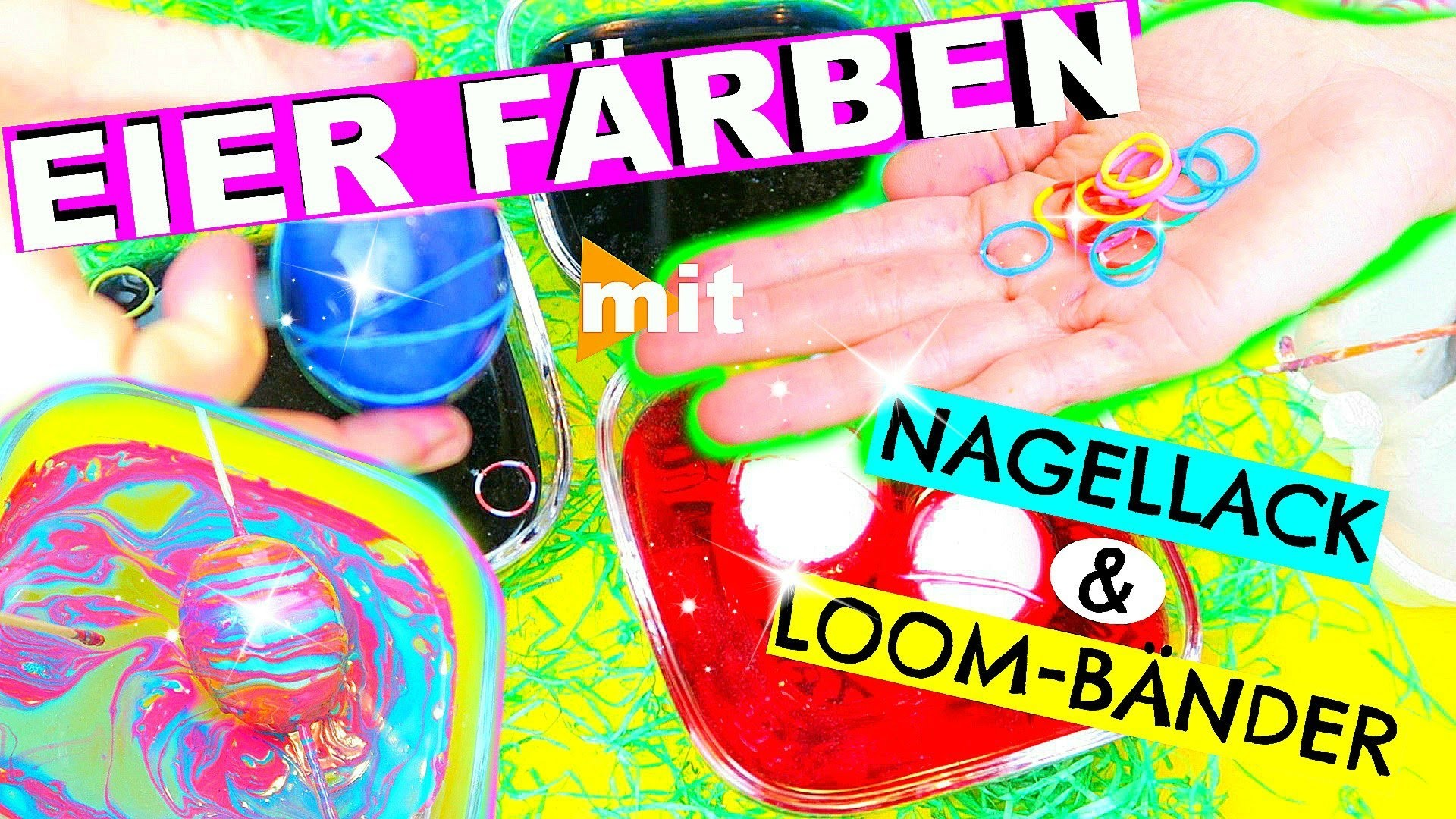 diy last minute eier f rben mit nagellack und loom b ndern l patdiy lee. Black Bedroom Furniture Sets. Home Design Ideas