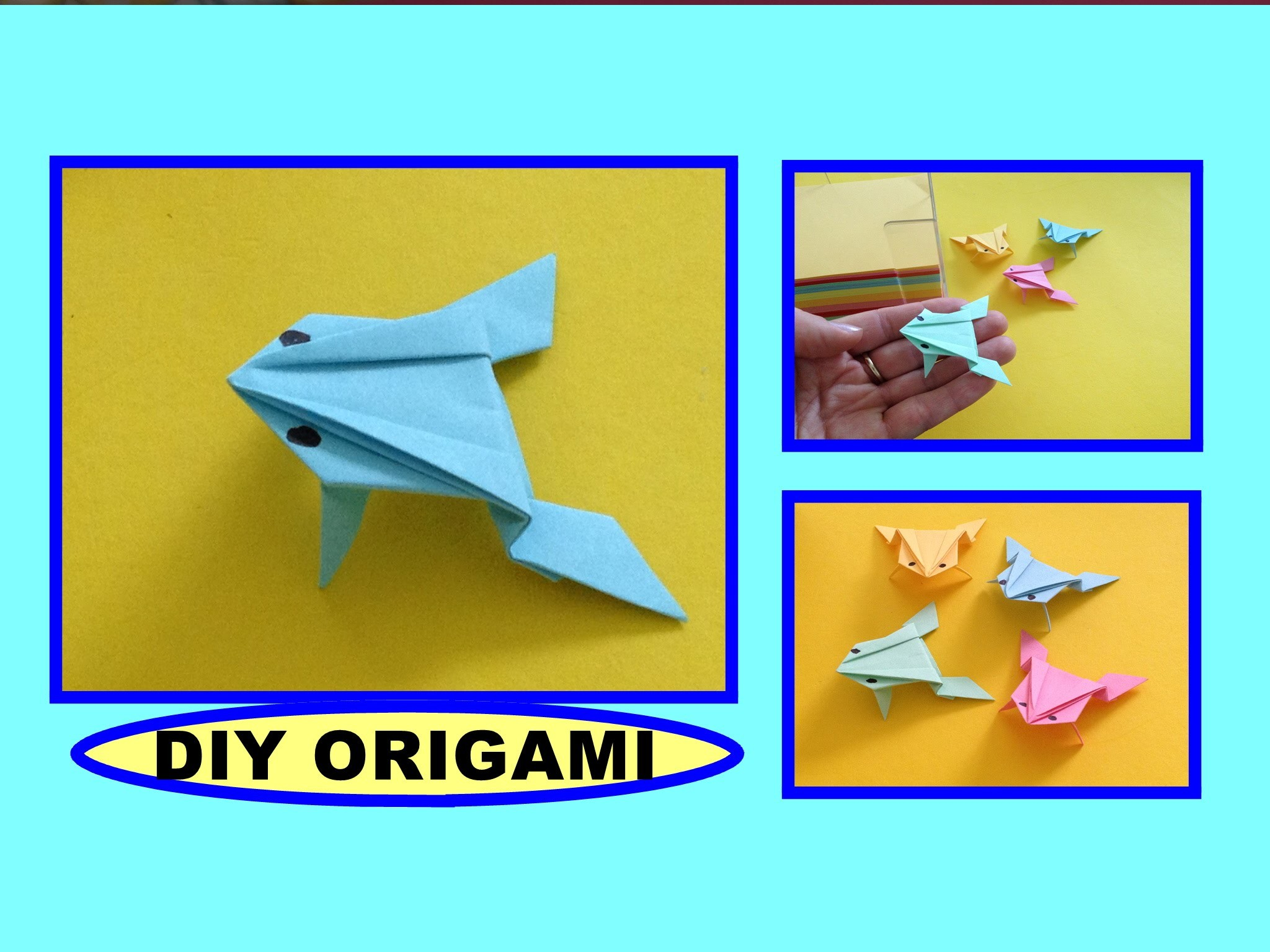 diy origami frog quick amp easy gift guide for dad simple