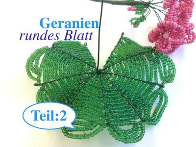 GERANIEN aus Perlen. DIY. Teil 2.3