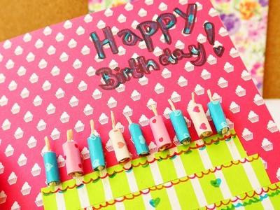 Happy Birthday!!! DIY Geburtstagkarte selber machen | Tolle Karte aus buntem Papier | Torte