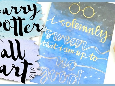 HARRY POTTER WALL ART. DIY | ItzSannyz