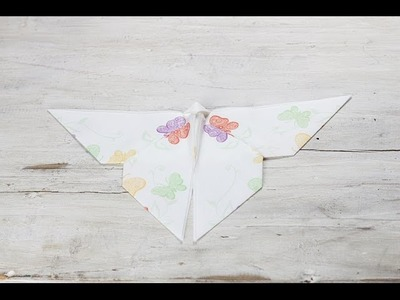 "Servietten falten ""Schmetterling"" - Mank Designed Paper Products"