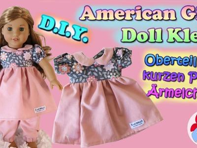 DIY | Puppenkleid Oberteil mit kurzen Puffärmelchen selber nähen • Sami Doll Tutorials