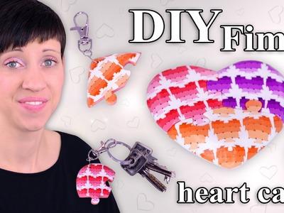 FIMO Herz Cane: Polymer Clay Heart Puzzle - Tutorial [HD.DE] (EN-Sub)