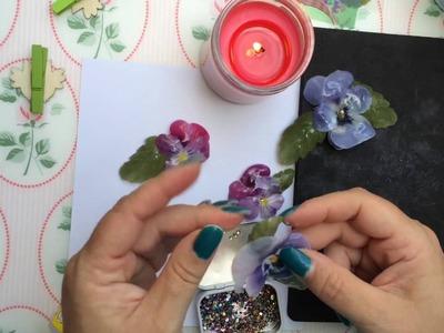 DIY 3D Folien Zauber Blüten