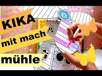 KIKA mit mach mühle | kreatives Bastelset für Kinder | 9999 Dinge DIY basteln