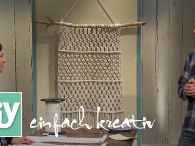Makramee Wandbehang | DIY einfach kreativ