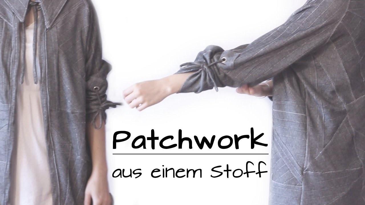 ♛ Patchwork aus einem Stoff: dünne Jacke mit Nadelstreifen | Work in Progress