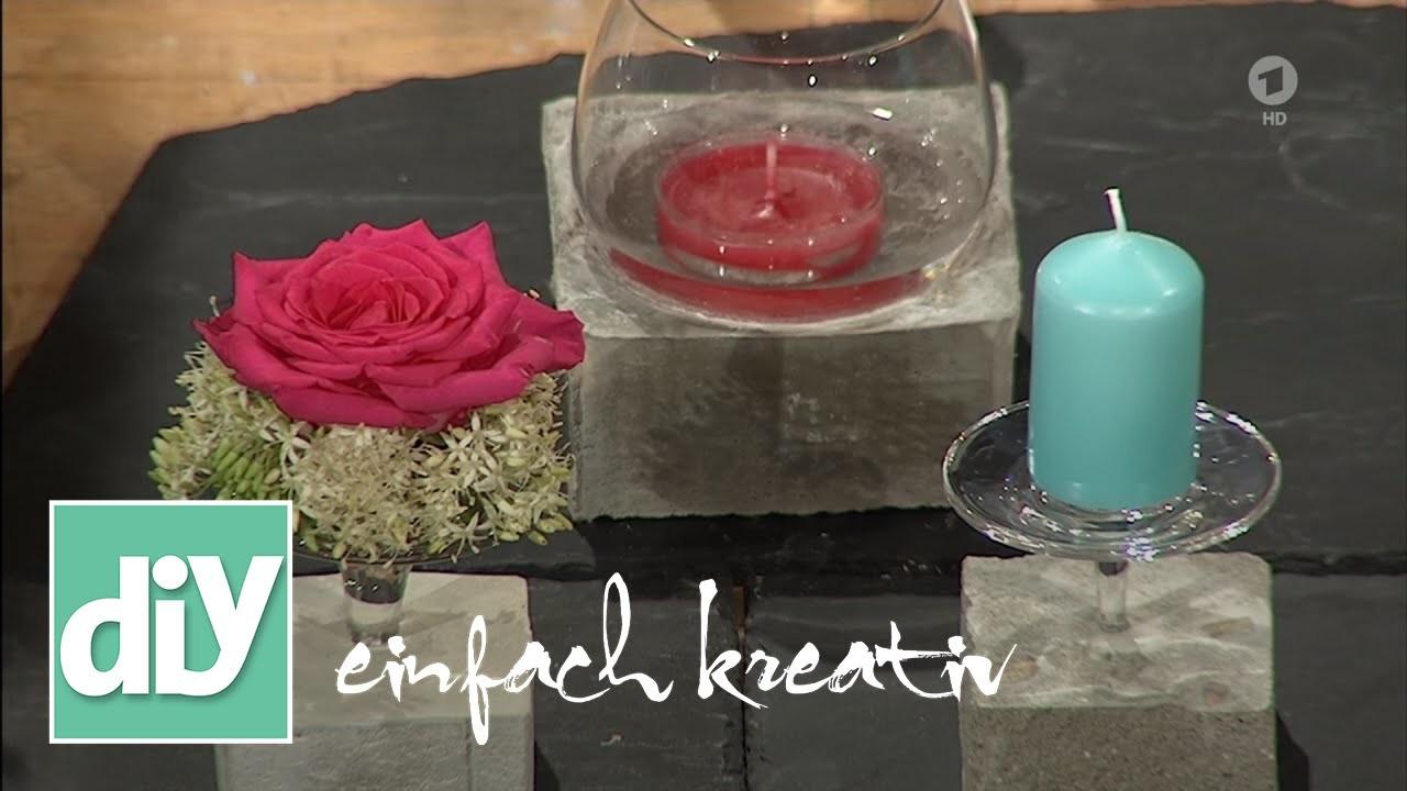 windlicht aus beton diy einfach kreativ. Black Bedroom Furniture Sets. Home Design Ideas