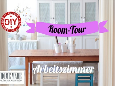 How To I Roomtour Arbeitszimmer I Craftroom-Tour I Deko Inspirationen Selbstgemacht