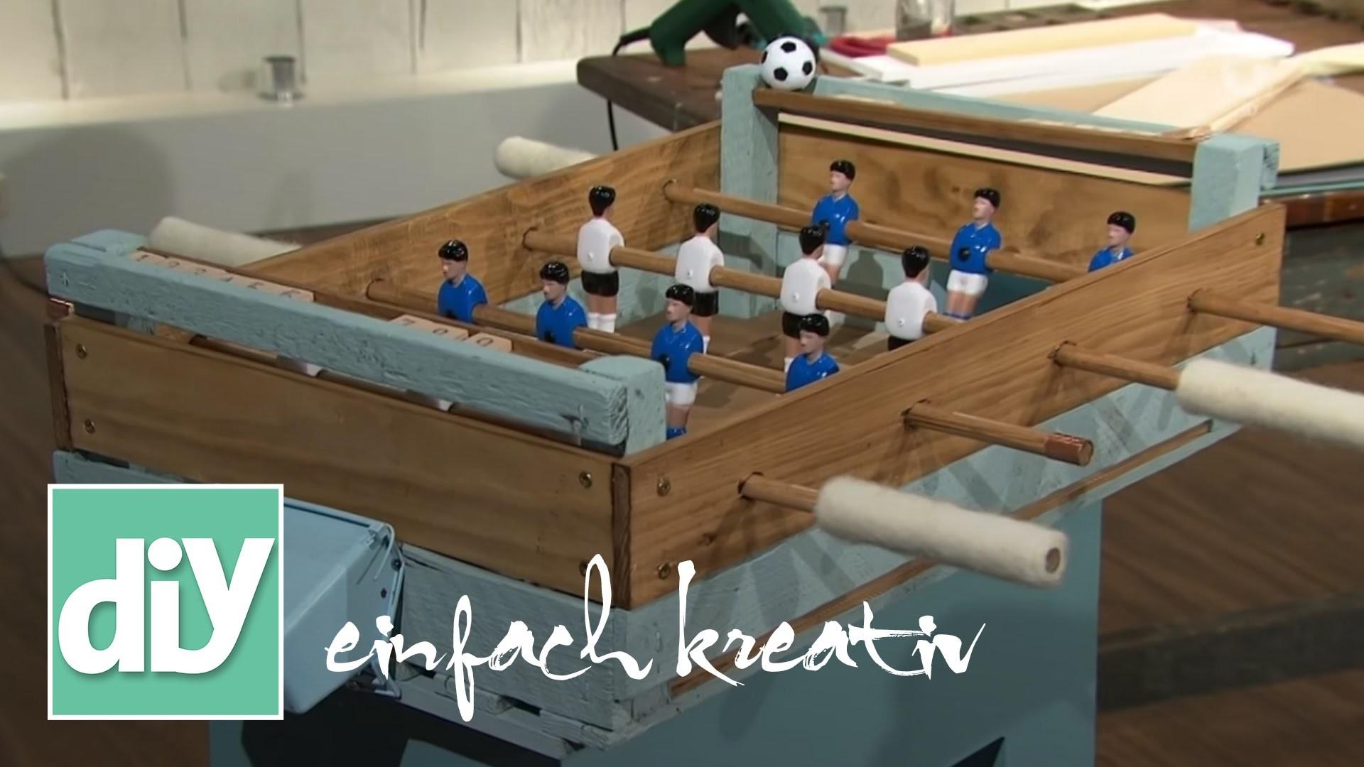 Tischkicker aus Holz   DIY einfach kreativ